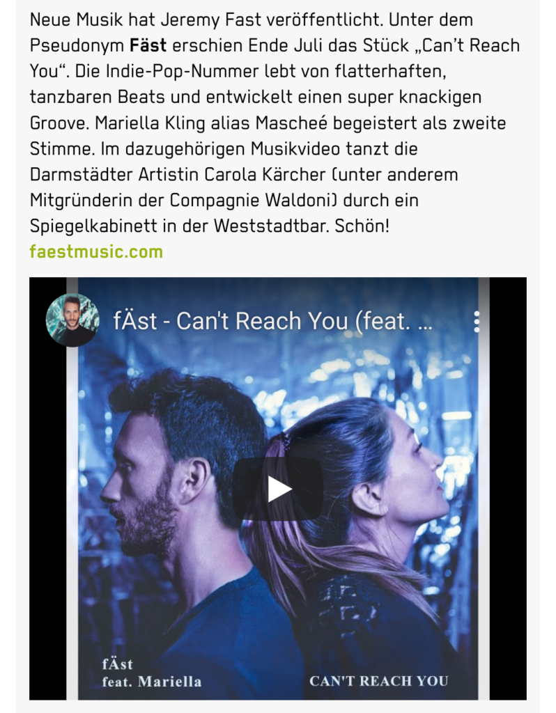Can't Reach You - P Stadtkulturmagazin Darmstadt